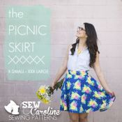 Sew Caroline - The Picnic Skirt