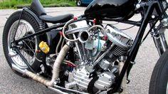 BornFree builder bike, panhead, Righteous
