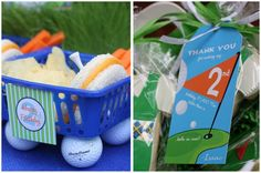 golf party continued. Love the lunch buckets!! So cute!