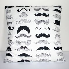 Thoroughly want this mustache pillow! It would match my bed