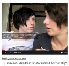 These two dorks named their own ship | team phan | Dan and Phil