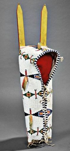 Cheyenne Beaded Buffalo Hide Doll Cradle..