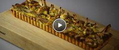 Blauwe kaas- en peertaart [Blue cheese & pear tart, recipe in Dutch]