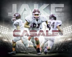 Football custom designed sports poster from Anything photos