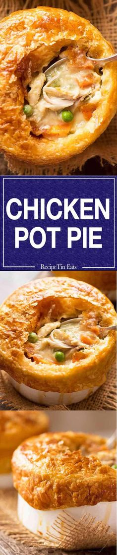 Everybody's favourite Chicken Pot Pie, made from scratch! You can compare pot pie recipes and make it your way. Favourite Chicken, Recipetin Eats, Recipe Tin, Pasta, Cooking Recipes, Pie Recipes, Dinner Recipes, Food To Make, Chicken Recipes