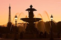 Place de la Concorde Fountain and Eiffel Tower at Dusk by Barry O Carroll Photography France Photography, Photography Words, Types Of Photography, Outdoor Photography, Paris Design, Paris Art, Types Of Lighting, Concorde, Dusk