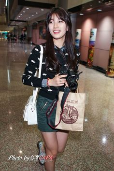 Suzy at airport