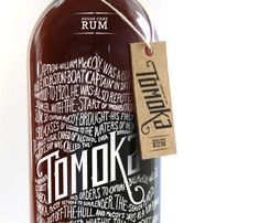 """Tomoka by Arcadebox """" """"Tomoka is the legendary schooner Captain Bill McCoy used for rum-running, also known as bootlegging, during the time of prohibition. Tomoka was one of the most famous. Cool Packaging, Beer Packaging, Print Packaging, Design Packaging, Packaging Design Inspiration, Graphic Design Inspiration, Rum Bottle, Label Design, Package Design"""