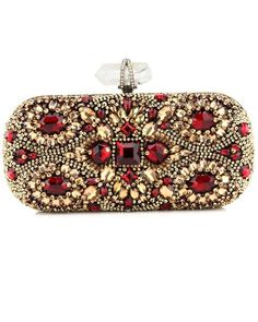 Womens Purses  : Marchesa Crystal Embroidered Clutch at Saks and Neimans
