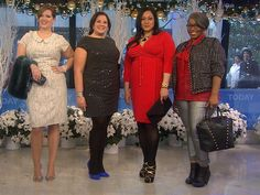 Holiday fashion for full-figured women