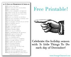 31 Things to Do in December FREE Planner Printable!