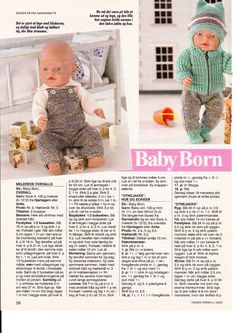 New baby born haakpatronen gratis ideas Knitted Doll Patterns, Knitted Dolls, Baby Knitting Patterns, Baby Patterns, Knitting Dolls Clothes, Crochet Doll Clothes, Doll Clothes Patterns, Baby Boy Scrapbook, Baby Born Clothes