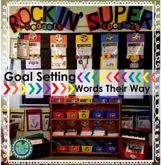 Goal Setting as Motivation for Words Their Way: Differentiate your Word Study groups (with/out Words Their Way)! This resource is proven to help make your planning, organization, routine & implementation of differentiated Word Study groups much easier! Classroom Labels, Classroom Themes, Classroom Hacks, Classroom Activities, Classroom Management Strategies, Teaching Strategies, Teaching Resources, Student Motivation, Motivation Goals