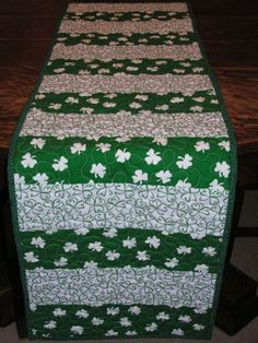 14 x 45 St. Patrick's Day table runner by donnasquiltcreations, $45.00