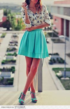 Absolutely need to have this! Love this top and the bright skirt : Absolutely need to have this! Love this top and the bright skirt Look Fashion, Teen Fashion, Fashion Outfits, Fashion Trends, Fashion Shirts, Latest Fashion, Swag Fashion, Fashion Heels, Office Fashion