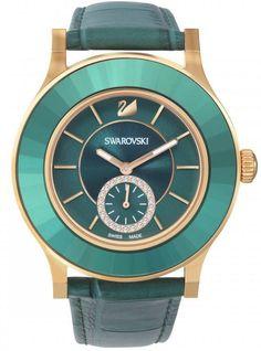 Tono de Swarovski reloj Octea Classica esmeralda de oro rosa