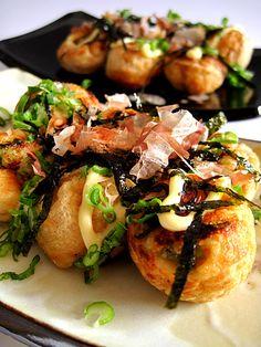 takoyaki: I can't even begin to explain my love for takoyaki.......  need a takoyaki maker stat!!