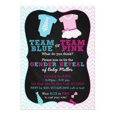 Team Pink or Blue Gender Reveal Card