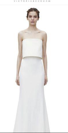 18549b0397 Minimal wedding dress Victortia Beckham Eu