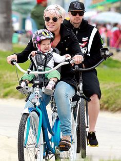So adorable, Pink, Carey Hart and adorable baby Willow