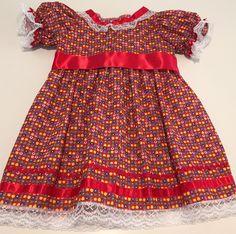 Vestido festa junina tamanho 1 ano