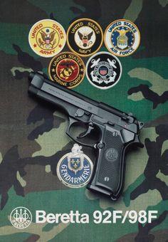 Beretta 92F/98F Promotional poster (1986-87)
