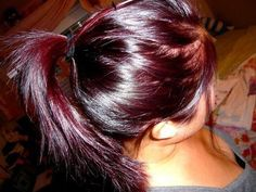 burgundy hair Be beautiful with dark brown or black hair and this highlighted throughout !
