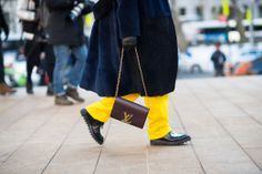 Spotted on the streets of #NYFW: the Chain Louise handbag, photographed by Adam Katz Sinding for www.wmagazine.com