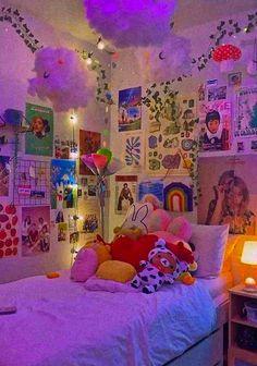 Cute Bedroom Decor, Room Design Bedroom, Room Ideas Bedroom, Bedroom Inspo, Chill Room, Cozy Room, Chambre Indie, Indie Bedroom, Otaku Room