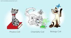 Science cats by JammyScribbler.deviantart.com on @deviantART