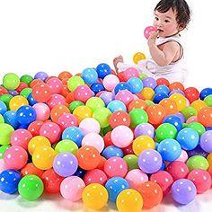 Autone 50/100/200pcs Swim Fun Colorful Soft Plastic Ocean Ball Secure Baby Kid Pit Toy, 5.5 cm/2.16 inch (50)