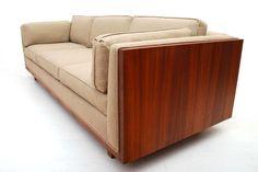 Mid Century Modern Walnut Sofa image 2