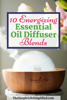 Did you know that you can use essential oil diffuser recipes for energy and focus? Try one of these 10 energizing diffuser blends to lift your mood and naturally boost your energy and concentration. Essential Oils For Skin, Essential Oil Diffuser Blends, Tea Tree Essential Oil, Oils For Energy, Home Health Remedies, Stress, Diffuser Recipes, Mood, Diffuser Blends