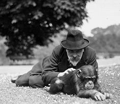 Chimpansee with Prof. Alfred Scott, a council member from 1907 until his death in 1926 Dublin Zoo, Online Tickets, Days Out, Attraction, Ireland, Death, Irish
