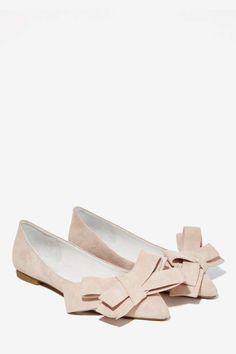 Jeffrey Campbell Ruston Suede Flat - Blush - Shoes | Slip On | Jeffrey Campbell