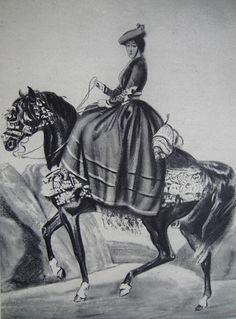 Eugenia de Montijo. Reproducción de litografía