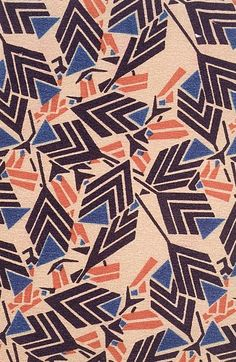 Design Têxtil de Josef Hoffmann (1870-1956). Foi um dos percursores do movimento da Sesseção. Era caracterizado pelos seus padrões rectangulares e pela abstracção moderna. Embora a arte da Secessão fosse fundamentalmente art nouveau, o seu design é lembrado por um enfoque ornamental mais geométrico.