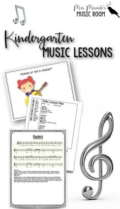 Kindergarten Music Lessons: HUGE bundle with lessons for your Kindergarten music classroom, for the entire year! Includes lessons, songs, materials, and more!