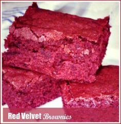 Rich, Moist, Delicious and Gluten Free Red Velvet Brownies from @K.C. Loquaci Pomering . Click to watch the recipe video.