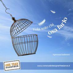 Vola solo chi osa farlo. (Luis Sepùlveda) #pensaciadesso http://www.corsowebdesignerfreelance.it/