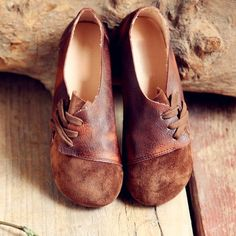 Leather Retro Women Shoes                         – Loosely Store