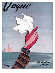 Vogue Cover - May 1939 Giclee Print by Eduardo Garcia Benito