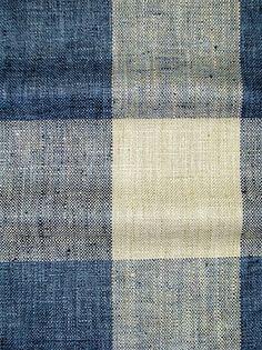 Check Please Lakeland: Linen hand loom look buffalo plaid fabric. Blue And White Fabric, White Fabrics, Blue Fabric, Buffalo Check Curtains, Buffalo Check Fabric, Drapery Fabric, Fabric Decor, Linen Fabric, Fabric Sofa