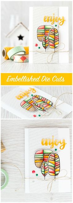 Embellished die cuts really add a wow factor to a card; the little details like Glossy Accents and glitter really take things up a notch. Find out more by clicking on the following link: http://limedoodledesign.com/2015/07/video-hop/