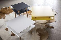 meble - stoły i stoliki-stolik SQUARE low Ragaba biały 61h