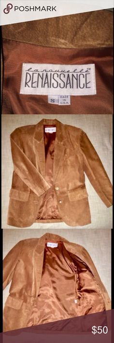 Women's Suede Blazer/Jacket Beautiful mint condition pre-owned suede Blazer/Jacket La nauuelle Renaissance Jackets & Coats Blazers