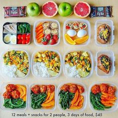 Looking for some Easy Healthy Meal Prep Snack Ideas? Here are 4 meal prep snack recipes for work, school, or home! Healthy snacks for both adults and kids. Healthy Weekly Meal Plan, Diet Meal Plans, Weekly Food Prep, Daily Meal Prep, Fitness Meal Prep, Healthy Snacks, Healthy Eating, Healthy Recipes, Lunch Recipes