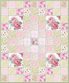Roses, Roses and More Roses Quilt Kit Fabric I haven't made a quilt in a few years but maybe seeing a few of these will inspire me to make another one soon