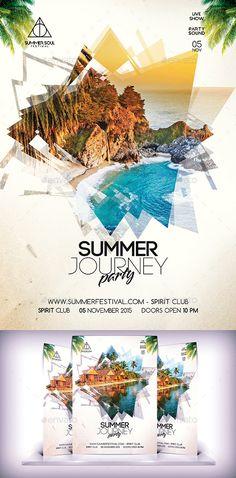 Summer Party Flyer Tempalte #flyertemplate Download: http://graphicriver.net/item/summer-party-flyer-vol-2/12166001?ref=ksioks