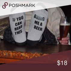 Beer Socks(nwot) Cute Beer socks, brand new in package. One size fits most women, fit up to a men's 10.5. Accessories Hosiery & Socks